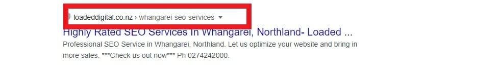 Web Address screenshot